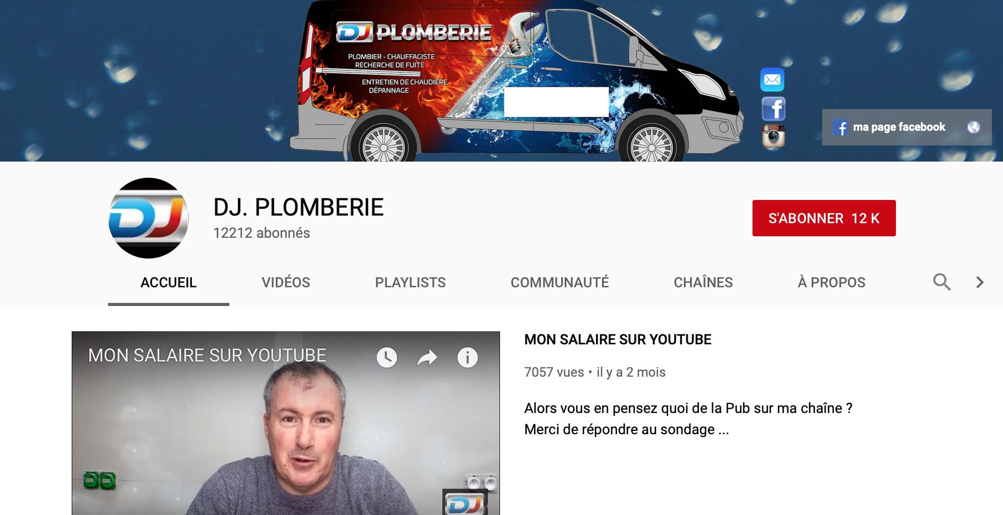 youtube plombier