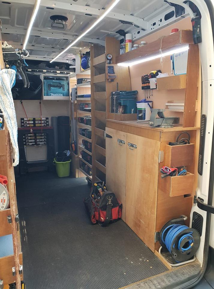aménagement utilitaire plombier chauffagiste